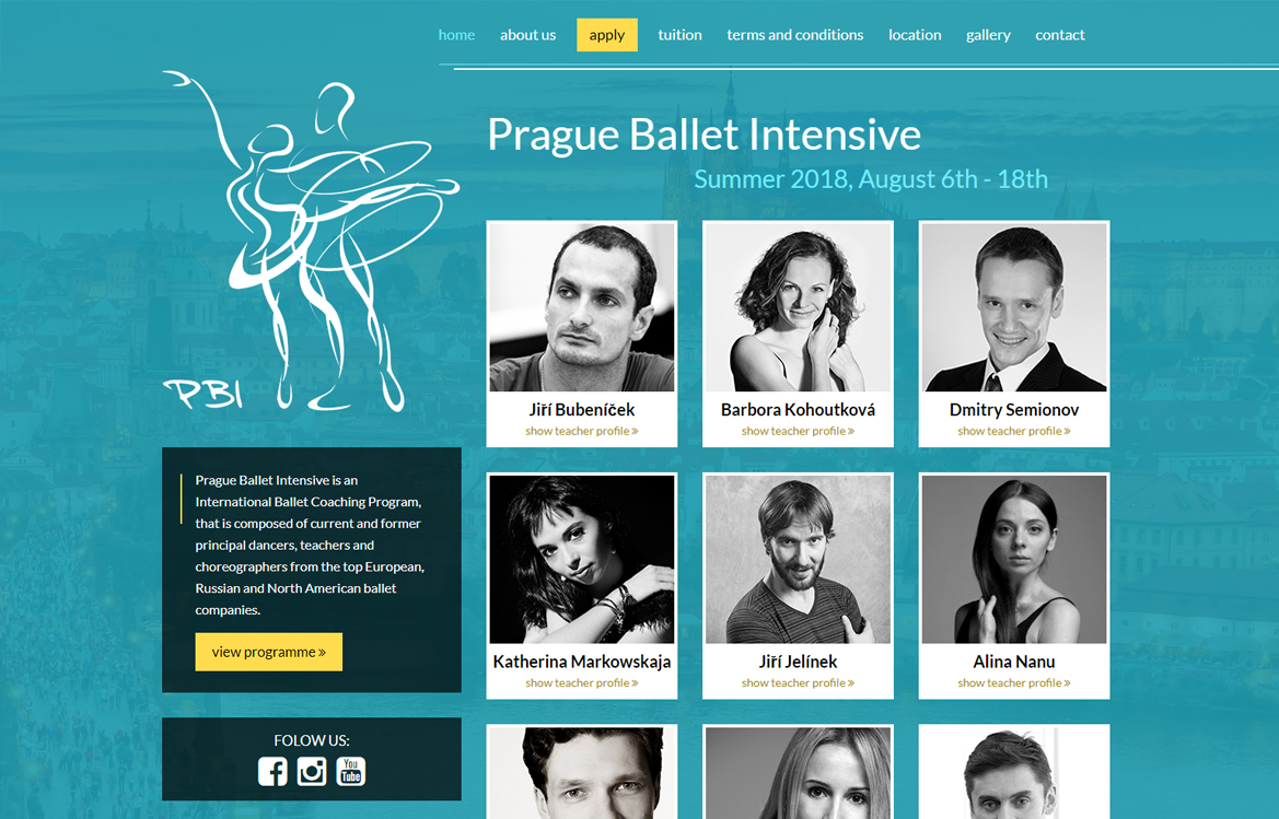 Prague Ballet Intensive - screenshot
