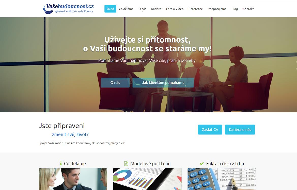 Vašebudoucnost.cz - screenshot